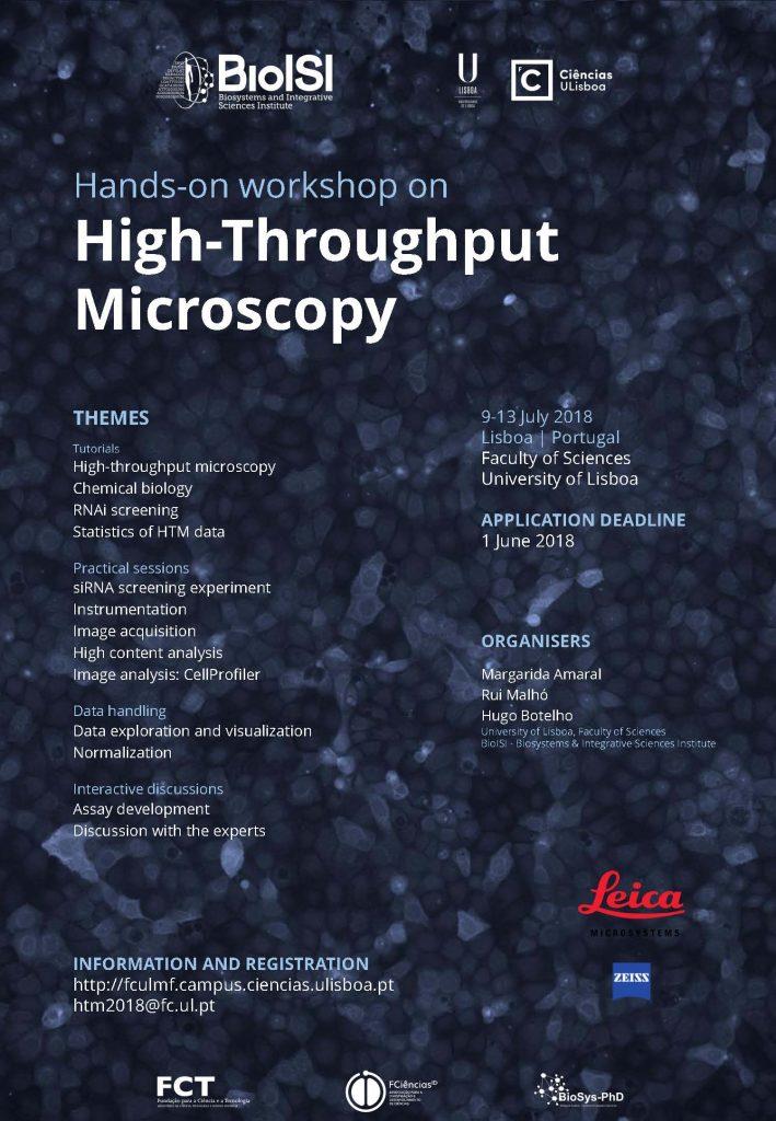 High-Throughput Microscopy Workshop 2018: 9 – 13 July | NEW APPLICATION DEADLINE JUNE 1ST!